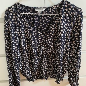 american eagle outfitters black floral top